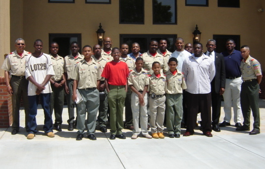 <strong><u>Boy Scouts</u></strong><br>Reggie Smith, Scout Master